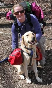 Whoopi and I on a training hike